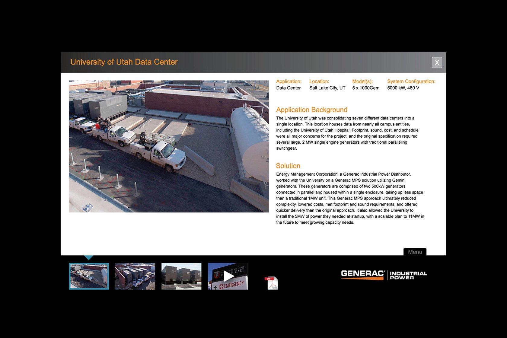 generac city digital sales tool detail screen