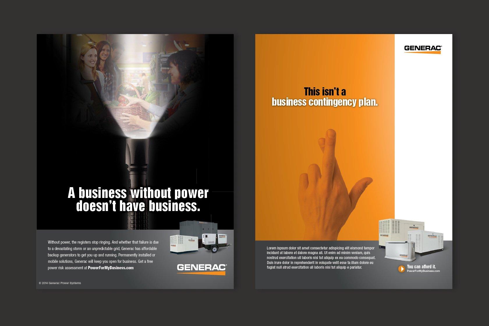 generac print advertisements