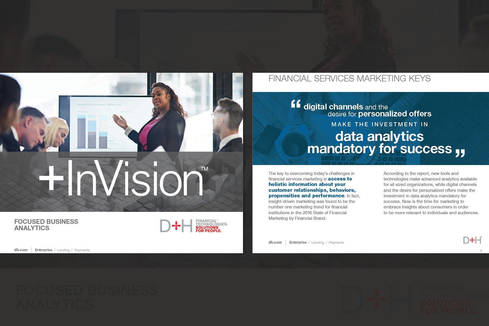 d+h invision ebook page designs