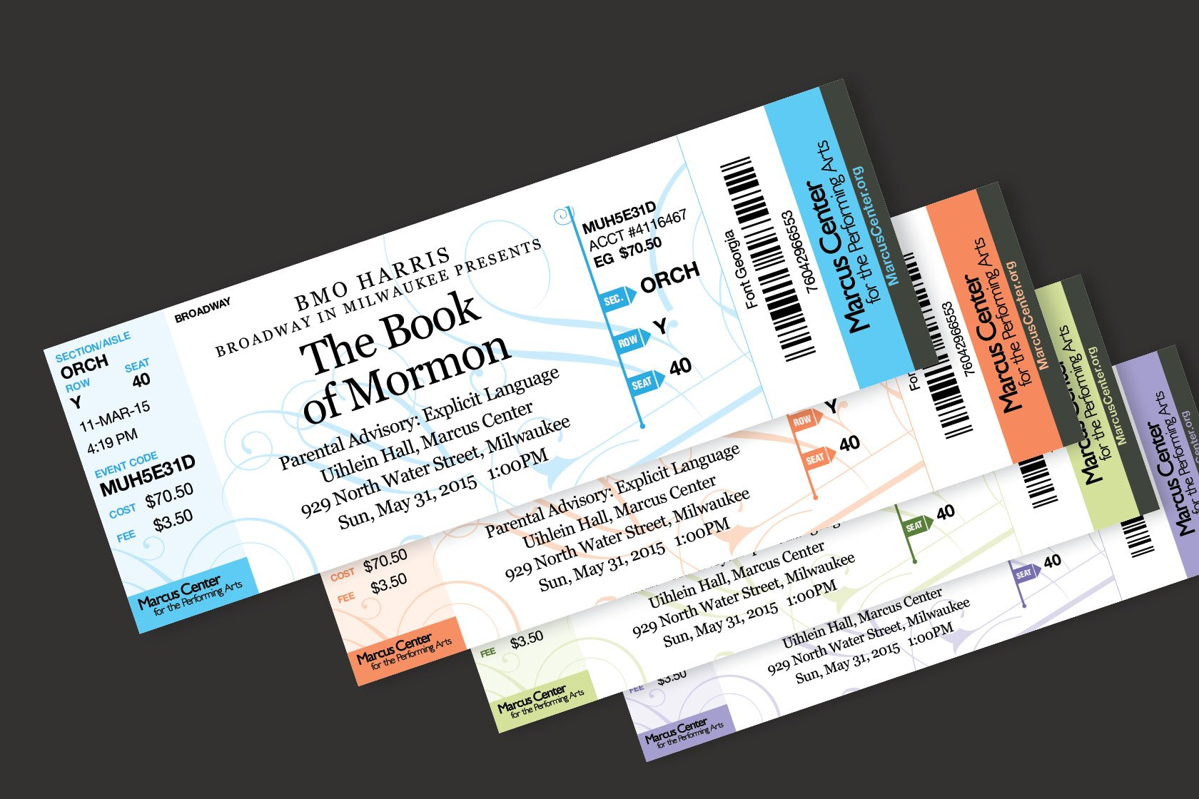 marcus center ticket design